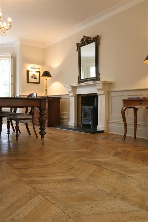 Hungarian point parquet for an Edwardian House in