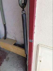 Remplacement de ressorts sur ancienne porte de garage for Ressort de porte de garage basculante
