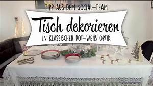 Tischdeko Rot Weiß : tischdekoration f r weihnachten klassisch in rot und wei youtube ~ Watch28wear.com Haus und Dekorationen