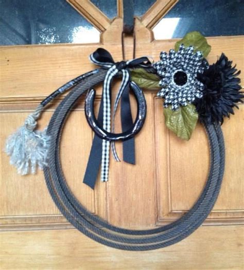 western decor lariat roping rope wreath home