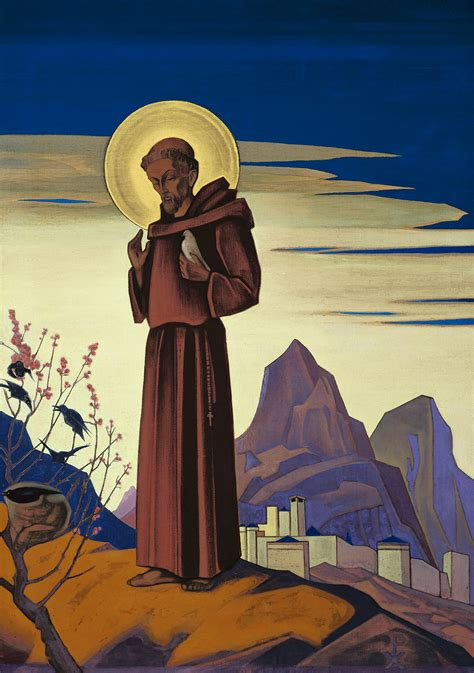 st francis of assisi patron st francis 1931 nicholas roerich wikiart org