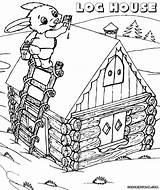 Coloring Pages Log Cabin Drawing Building Colorings Getdrawings Coloringway sketch template