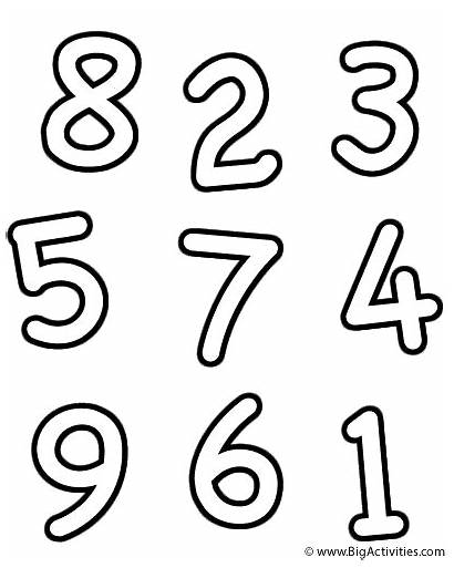 Coloring Letter Alphabet Numbers Bigactivities