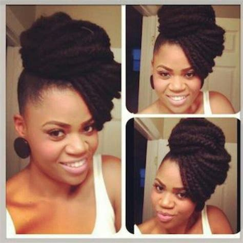 chic bun updo you can do with marley hair if you have
