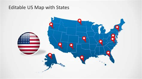 map template  powerpoint  editable states