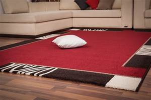tapis contemporain d39interieur rouge lord With tapis contemporain rouge
