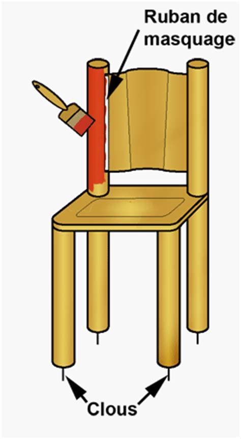 peindre chaise en bois repeindre une chaise en bois