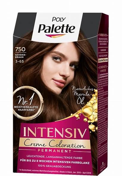 Palette Schokobraun Haarfarbe Poly Coloration Creme Intensiv