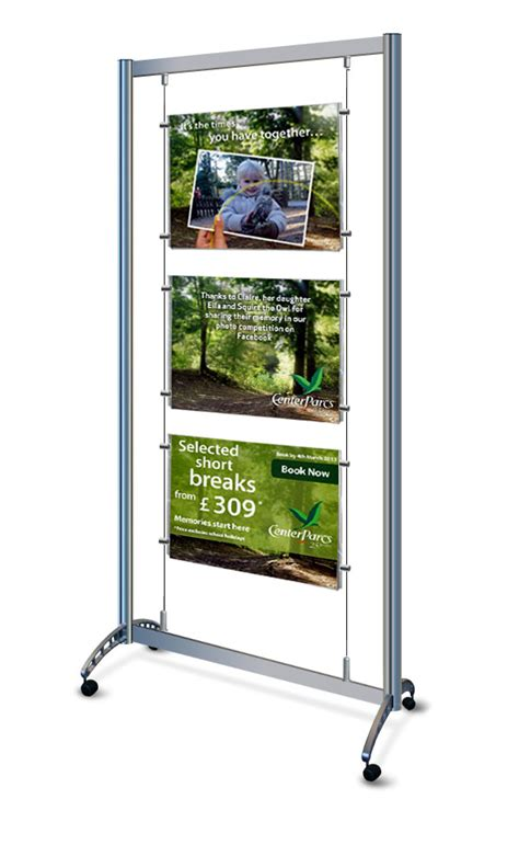 Mobile Display Stands mobile a2 display stands on wheels with clear acrylic