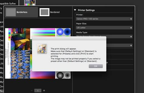 solved cannot set print for quot quot quality for most photo