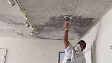 popcorn ceiling removal skim coat plaster contractor
