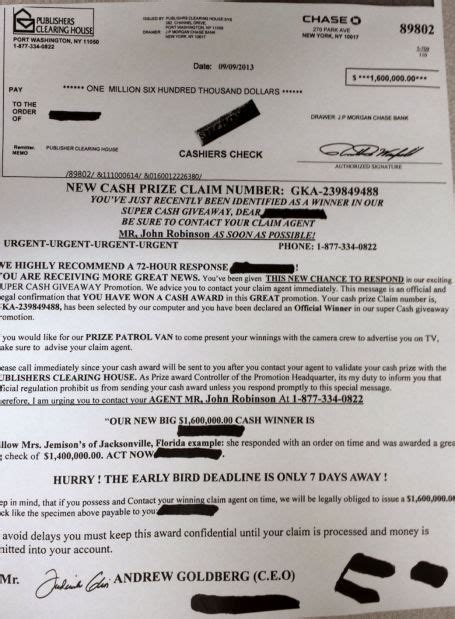 publishers clearing house friend request on scam warn about publishers clearing house mail scam