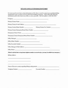 best photos of tenant information update form tenant With update contact information form template