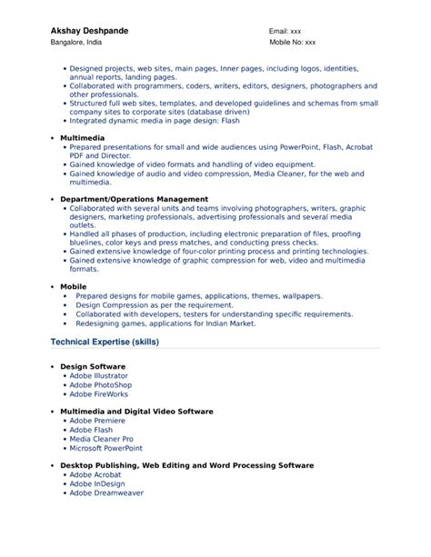 functional graphic artist resume template page 2