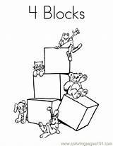 Coloring Blocks Block Lego Popular Coloringhome sketch template