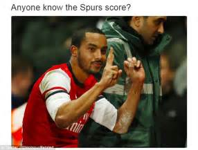 Arsenal Tottenham Meme - arsenal fans trolled the best north london derby memes daily mail online