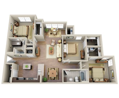 Three Bedroom Apartment Homes-the Summit At Nashville
