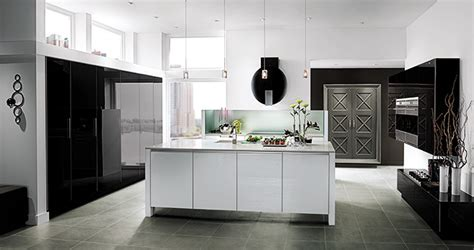 penthouse view contemporary kitchen cabinets wood mode
