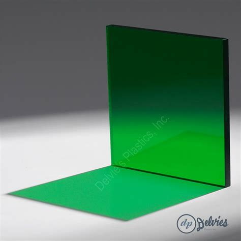 1 quot 2092 transparent green cell cast acrylic sheet 12 quot