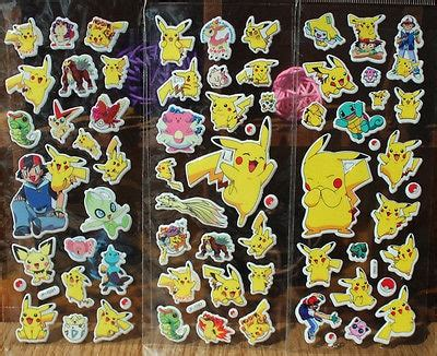 pc cartoon anime pokemon stickers  kids rooms home decor diary notebook label decoration toy