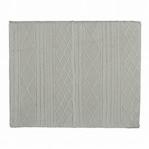 Tête de lit 140 en tissu tricoté blanche Tricot Maisons du Monde