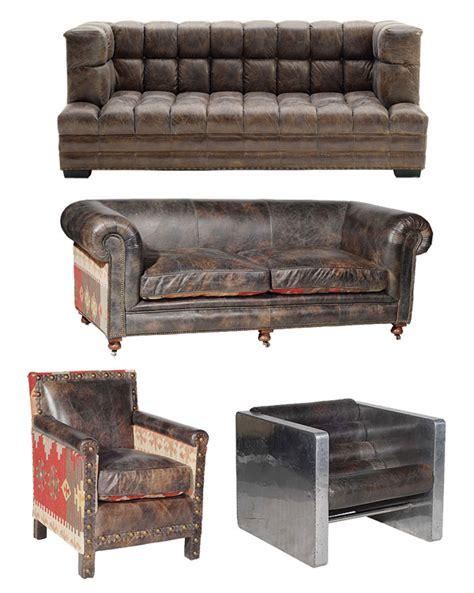 vieux canapé canapés et fauteuils cuir vintage
