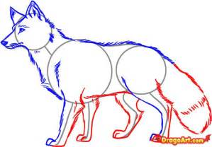 How to Draw Red Foxes Drawing