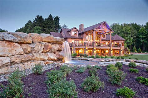 jackson version ii log home plan  wisconsin log homes
