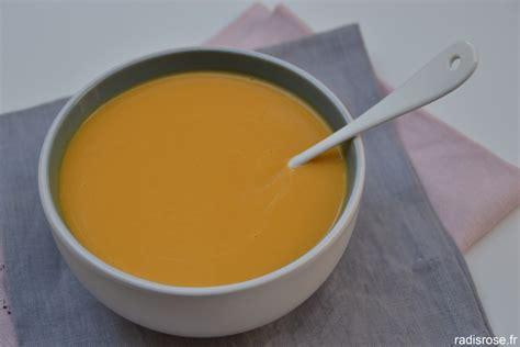 cuisiner au lait de coco velouté de butternut carotte et patate douce au lait de