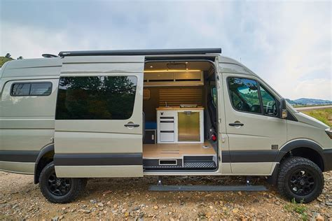 Many of those rvs are built from mercedes sprinter vans and include plumbing and other features that are. Sleek camper van sleeps two with space for bikes - Curbed