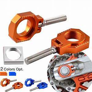 Rear Axle Blocks Chain Adjuster For Ktm 125 250 300 350