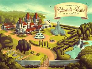 Mowrey Manor Illustration Series On Behance
