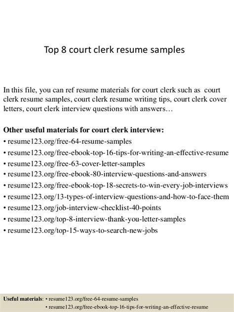 Judicial Clerk Description Resume by Top 8 Court Clerk Resume Sles