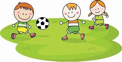 Playing Cartoon Football Play Clipart Children Child