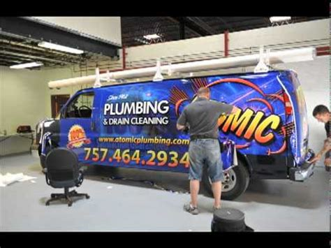 tradewraps atomic plumbing van wrap fast youtube
