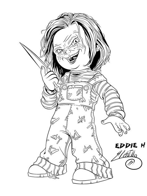 Gizmo Kleurplaat by Chucky The Doll Coloring Pages Coloring Pages