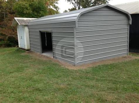 12x21 Regular Style Standard Enclosed Metal Garage For Sale