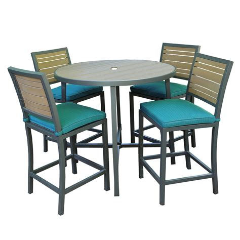 shop ae outdoor composite material patio dining set at