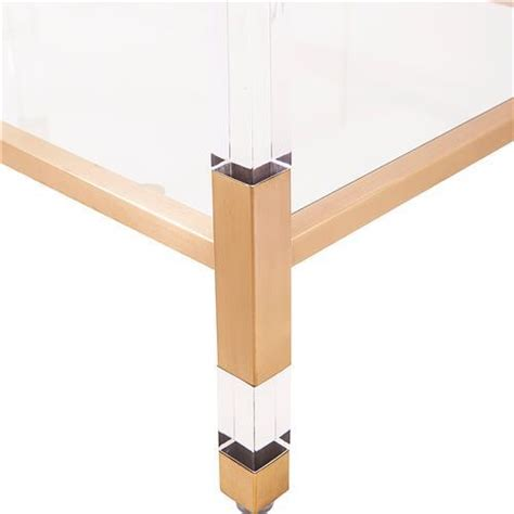 Define Etagere by Set Of Maelie Lucite Acrylic Gold Etagere Bookcases With