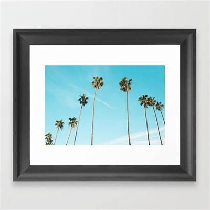 Palm Tree Framed Sunshine Prints Society6 Artwork