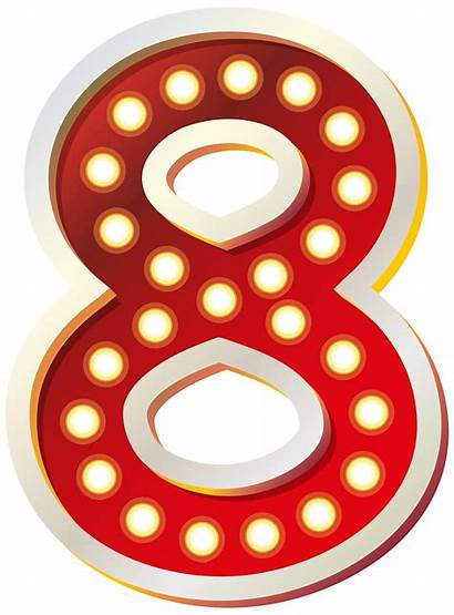 Eight Number Clip Clipart Lights Numbers Cliparts