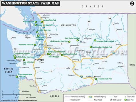 washington state campgrounds map printable map