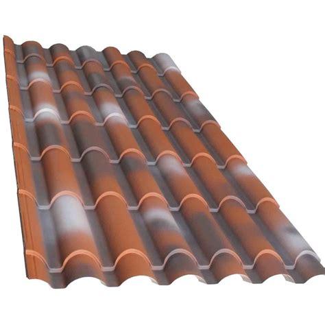 coperture in plastica per tettoie lastra lamiera in finto coppo rossa antichizzata varie misure
