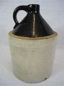 """13.5"""" Antique Stoneware Whiskey Jug/Moonshine Bottle ..."""