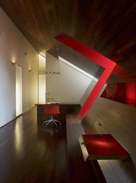 Dramatic, Angular Modern Office In Luxury Lake House
