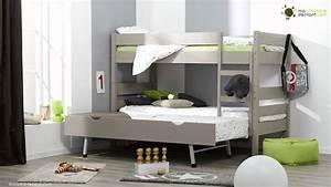 Lit Maison Enfant : lit enfant superpos 1 2 3 ma chambre d 39 enfant youtube ~ Farleysfitness.com Idées de Décoration