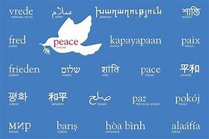 """Peace in many languages"" Greeting Cards by Laura Dozor ..."