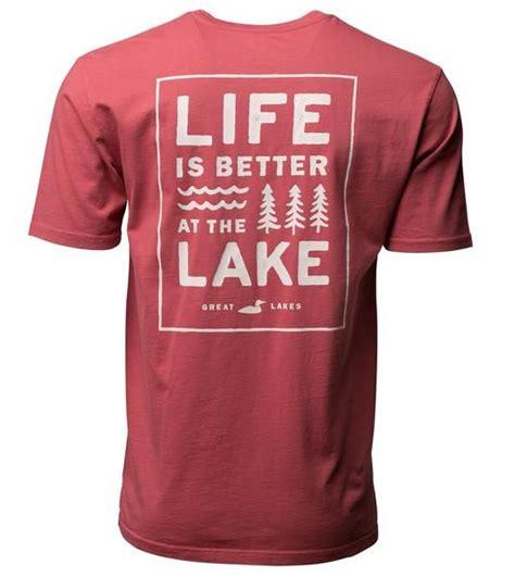 washed red  images lake life shirt lake clothes