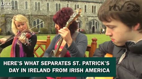 st s day traditions st patrick s day american vs irish traditions youtube