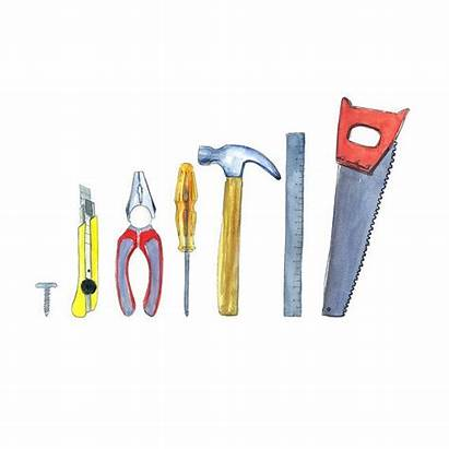 Clipart Construction Tool Tools Kit Building Watercolor
